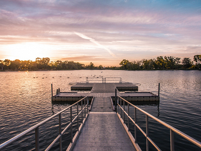 Boathouse dock at lodi lake park photo courtesy of robert calzada @still.life.co